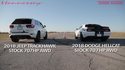 VIDEO: Dodge Challenger Hellcat vs Jeep Grand Cherokee Trackhawk