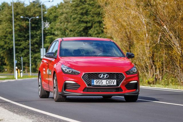 Hyundai i30 N Line sai sportliku välimuse ning mõnevõrra muudeti sõitjateruumi. See paraku autot kiiremaks ei tee. Foto: Pille Russi