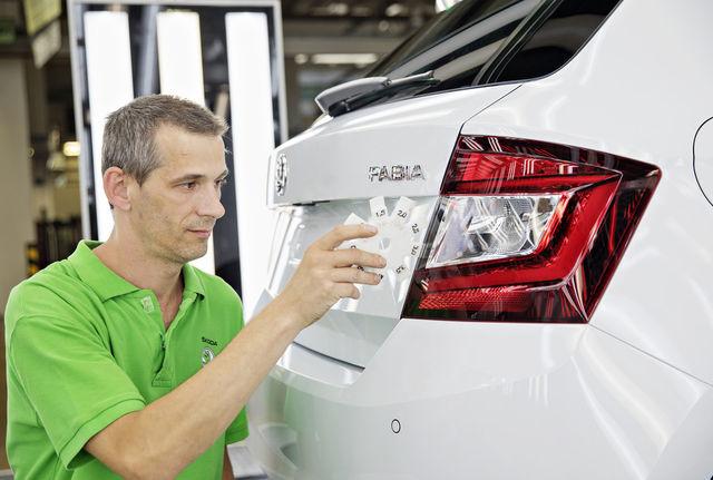Miljones auto oli valge Škoda Fabia. Foto: Škoda