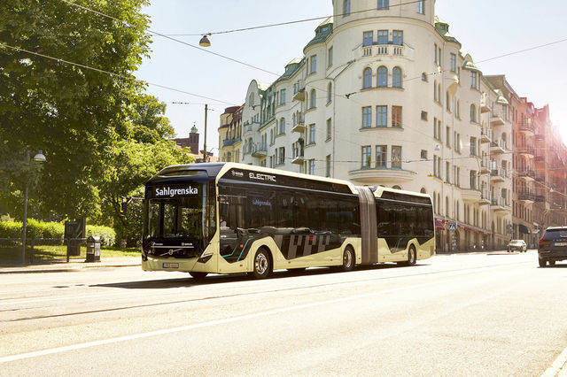 Volvo 7900 Electric Articulated Concept Bus. Foto: Volvo