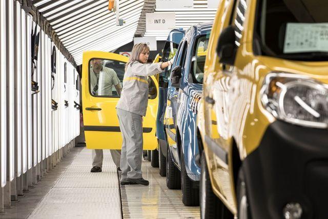 Renault Kangoo konveieril. Foto: Renault