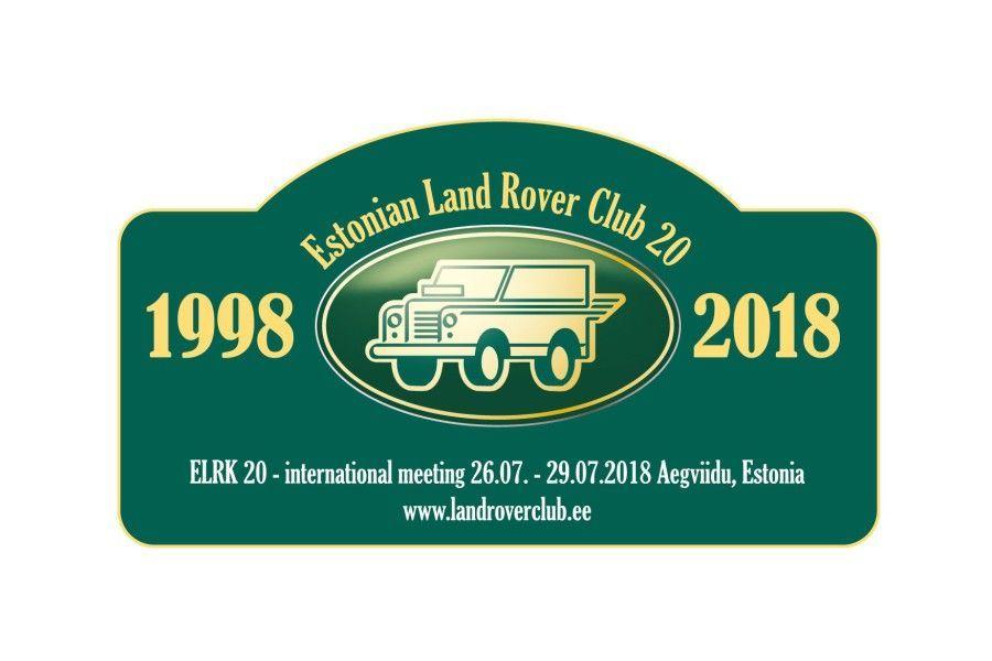 Eesti Land Roveri Klubi tähistab enda 20. ja Land Roveri 70. sünnipäeva 26.- 29. juulil Aegviidu puhkebaasis rahvusvahelise kokkutulekuga.